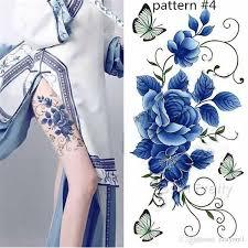 <b>1 Sheet Waterproof</b> Temporary Tattoo Sticker Plum Blossom Design ...