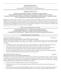 sample resume elementary educator resume template example with professional experience sample elementary education resume education resume sample