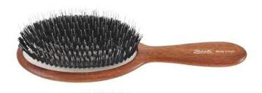 <b>Janeke Wooden oval shaped</b> Hair Brush with combined bristle ...