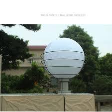 Outdoor <b>ball</b> shape <b>column</b> light white creative <b>garden lamp</b> fence ...