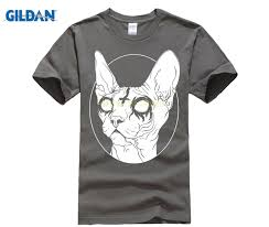 <b>GILDAN mens summer fashion</b> shirts streetwear Black Metal Sphynx ...