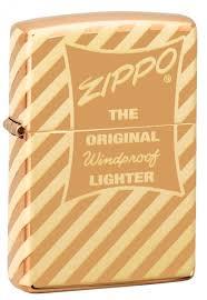 <b>Зажигалка</b> ZIPPO <b>Vintage Box</b> Top с покрытием High Polish Brass ...