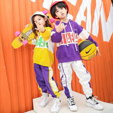 Teenager Girls Boys Clothes Autumn Hip Hop Dance Costumes ...