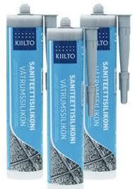 <b>Kiilto санитарный силикон</b> № 10 белый, 0,35 кг (Финляндия ...