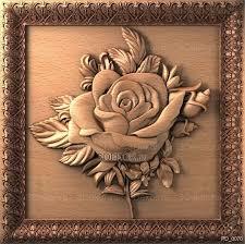 <b>Роза</b>. Панно <b>декоративное</b> из дерева. Резные <b>изделия</b> ...