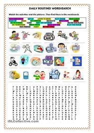 daily kids pages daily routines short essay school daily routines wordsearch