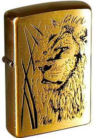 <b>Зажигалка Zippo Proud</b> Lion Brushed Brass, 204B Proud Lion ...