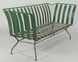 lot 589 french art deco patio furniture settee 3 chairs art deco outdoor furniture