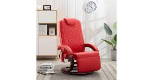 <b>TV</b> Massage <b>Recliner Red Faux</b> Leather - Matt Blatt
