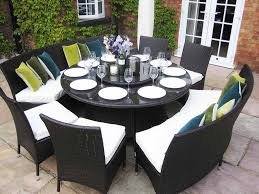 size seat outdoor dining