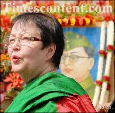 Anita Bose Pfaff, daughter of dynamic leader of India's struggle of independence Subhash Chandra Bose - Anita-Bose-Pfaff