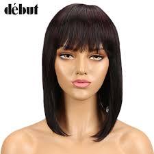 <b>Debut Brazilian</b> Human <b>Hair</b> Wigs Mink Silky <b>Straight</b> Short Human ...