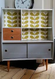 bespoke vintage retro cabinet orla kiely diy vintage furnitureretro style antique inspired furniture
