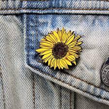 Amazon.com: Hand Painted <b>Sunflower Brooch</b> | Handmade Sun ...