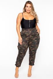 Trendy Plus Size Military Jackets - Curvy Sense