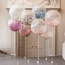 1pcs <b>36Inch large Balloons</b> Transparent Colorful Confetti <b>Balloon</b> for ...