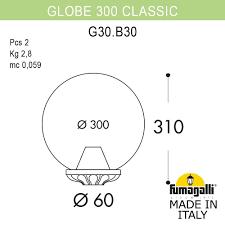 Наземный низкий <b>светильник Fumagalli G30</b>.<b>B30</b>.<b>000</b>.AYE27 ...