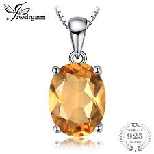 <b>JewelryPalace</b> Natural Citrine <b>Pendant</b> 925 Sterling Silver Without ...