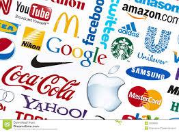brand image world brand logotypes royalty free stock photo