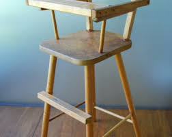 vintage wooden toy high chair mid century collectible antique high chairs wooden