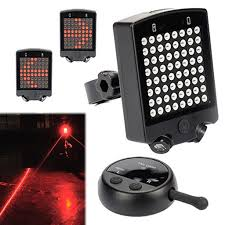Rechargeable <b>Bicycle</b> Tail Lights <b>Wireless</b> remote Control <b>Steering</b> ...