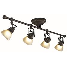 allen roth tucana 4 light 3475 in oil rubbed bronze dimmable fixed track bronze track lighting