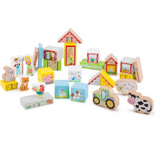 Кубики <b>деревянные NEW CLASSIC TOYS</b> Ферма - купить по ...