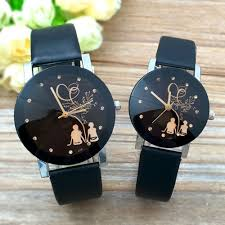 Hot <b>Fashion Lovers Watches Men</b> Women Casual Leather Strap ...