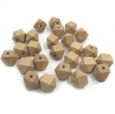 <b>Wooden</b> Hexagon Jewellery <b>Beads</b> | eBay