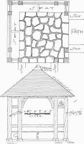 Architectural Features Of The Garden    Plan for a garden house  shingle or tile roof  Woodwork