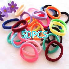 <b>50 Pcs</b> Girl <b>Elastic</b> Hair Ties Band Rope Ponytail Bracelet-buy at a ...