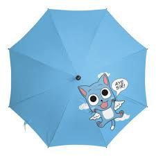 Зонт-трость с деревянной ручкой <b>Fairy Tail</b>. Хэппи #2237979 ...