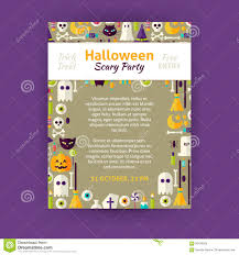trick or treat halloween party invitation vector template flyer trick or treat halloween party invitation vector template flyer royalty stock images