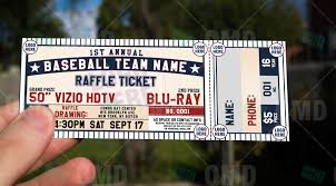 sports invites classic baseball raffle ticket template raffle ticket design 5 product 1 olympus digital camera