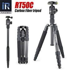 RT50C Carbon Fiber tripod monopod for dslr camera <b>light</b> Portable ...