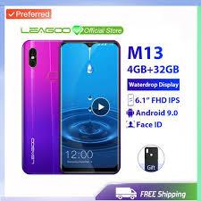 Best Factory Unlocked <b>Original LEAGOO M13</b> Android 9.0 19:9 6.1 ...
