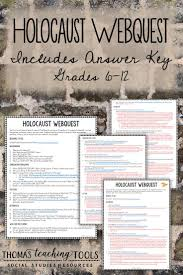 holocaust webquest answer key middle and high school social holocaust webquest answer key middle and high school social history resource