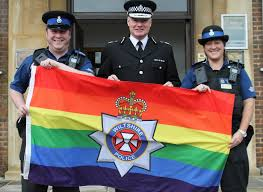 Image result for lgbt flag police
