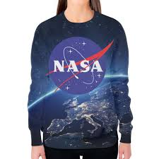 Заказать <b>свитшот</b> женский с полной запечаткой <b>NASA</b> - <b>Printio</b>