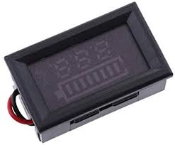 HOMYL Digital Voltmeter Gauge <b>Power Battery Capacity Indicator</b> ...