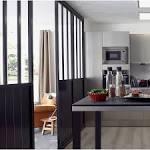 Cloison amovible Atelier, noir H.2x l.cm Leroy Merlin