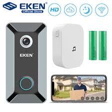 EKEN V6 <b>wifi Doorbell Smart</b> Wireless 720P video camera Cloud ...