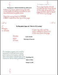 order of title page writing a paper