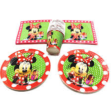 <b>60PCS</b>/<b>LOT</b> MINNIE THEME DISPOSABLE PLATES CUPS ...