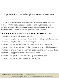 top8environmentalengineerresumesamples 150425015917 conversion gate02 thumbnail 4 jpg cb 1429945204