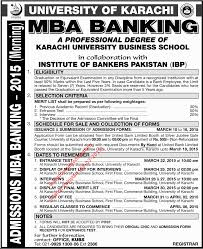 university of karachi admission mba banking morning jang refresh this page if you are unable to see ad picture refresh page