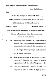 computer science papers delhi university b sc h computer science rd semester exam previous years question paper