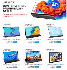 UPERFECT <b>15.6 Inch Touchscreen UHD</b> 4K IPS Portable Display ...