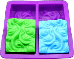 4-hole Wave Handmade Soap Molds Square <b>Jelly Pudding</b> ...