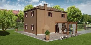 Pareti Interne Color Nocciola : Modello giudecca m casa in legno con tetto a falde